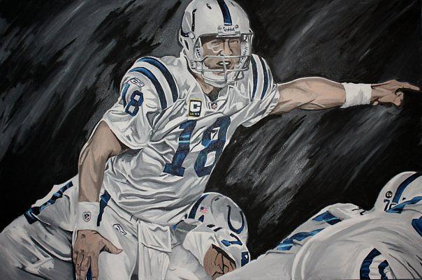 Peyton Manning Painting