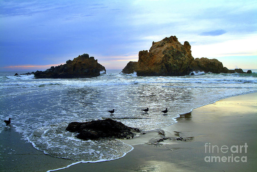 Pfeiffer Beach Evening - Big Sur Photograph