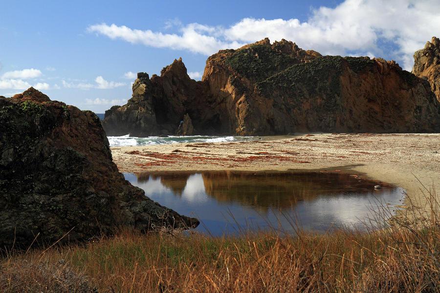 Pfeiffer Beach Landscape In Big Sur Photograph