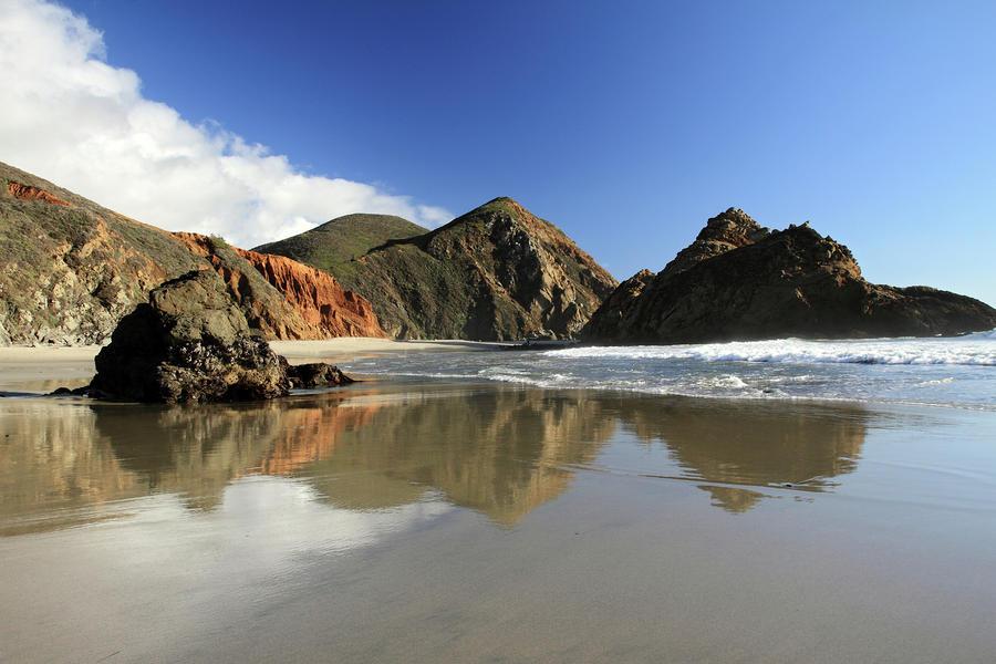 Pfeiffer Beach Reflection Photograph