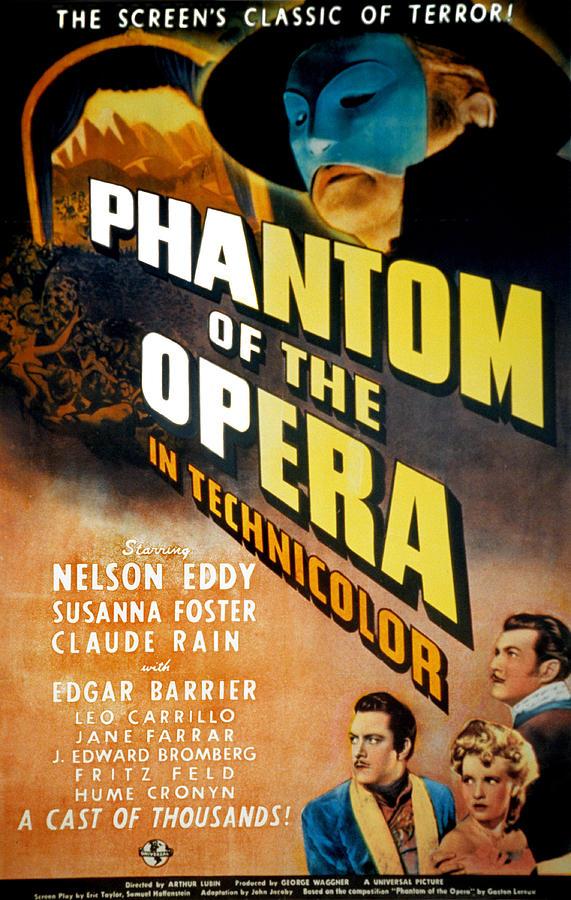 Phantom Of The Opera, Claude Rains Photograph