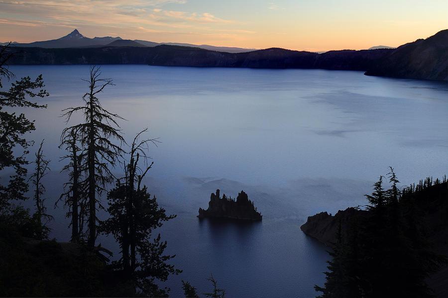 Phantom Ship Sunrise At Crater Lake Photograph