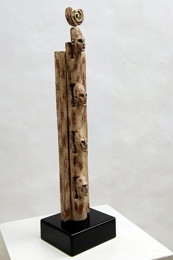 Pharaohs Iconic Cult - Ancestral Stela - Egypt - Egyptian - Pharaohs - Helga Pohlen  Sculpture