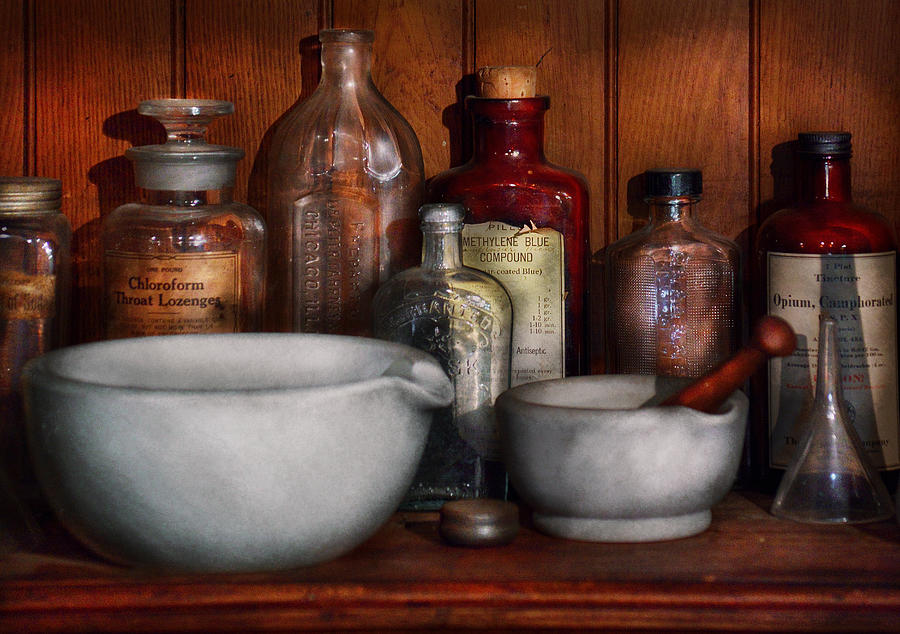 Pharmacist - Medicine For Coughing Photograph  - Pharmacist - Medicine For Coughing Fine Art Print