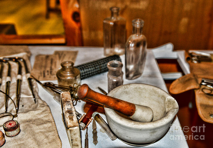 Pharmacist - Mortar And Pestle Photograph  - Pharmacist - Mortar And Pestle Fine Art Print