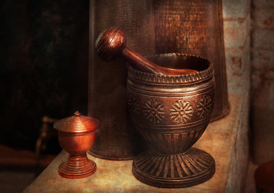 Pharmacy - Pestle - Luxury Tools  Photograph  - Pharmacy - Pestle - Luxury Tools  Fine Art Print
