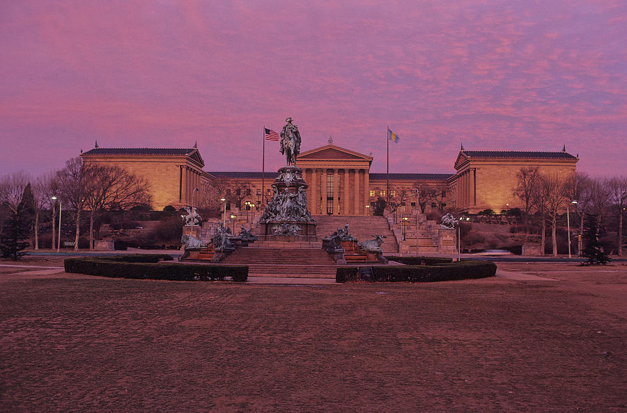 Philadelphia Art Museum At Dusk Photograph