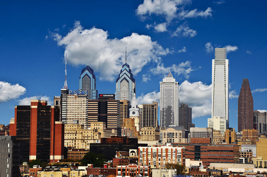 Philadelphia Blue Skies Photograph  - Philadelphia Blue Skies Fine Art Print