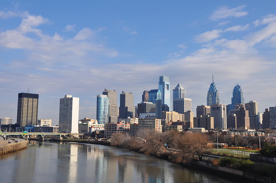 Philadelphia From The South Street Bridge Photograph  - Philadelphia From The South Street Bridge Fine Art Print