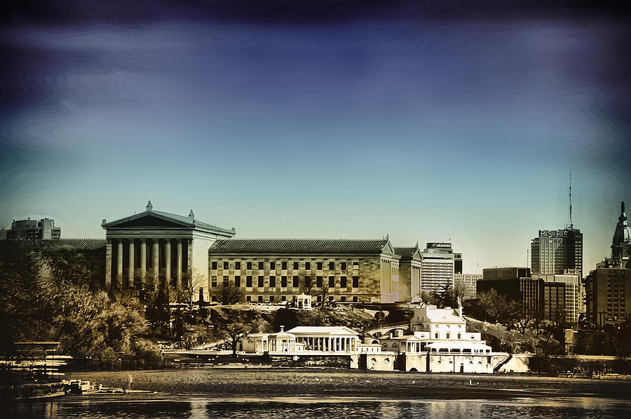 Philadelphia Museum Of Art And The Fairmount Waterworks From West River Drive Photograph