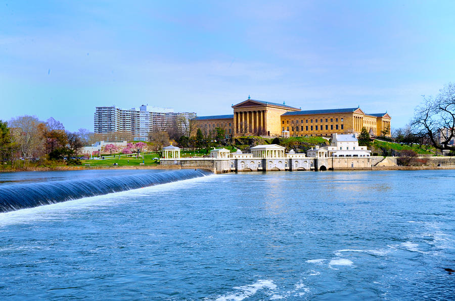 Philadelphia Museum Of Art And The Philadelphia Waterworks Photograph  - Philadelphia Museum Of Art And The Philadelphia Waterworks Fine Art Print