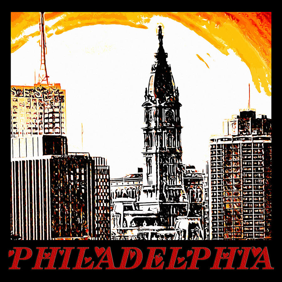 Philadelphia Poster Photograph - Philadelphia Poster by Bill Cannon