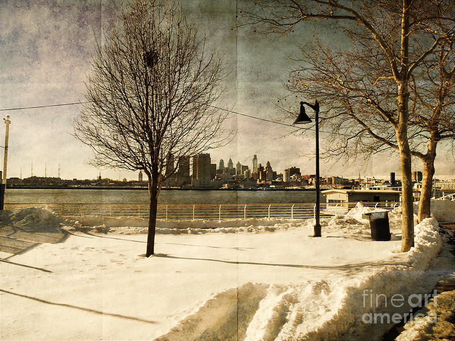 Philadelphia Snowscape Photograph  - Philadelphia Snowscape Fine Art Print