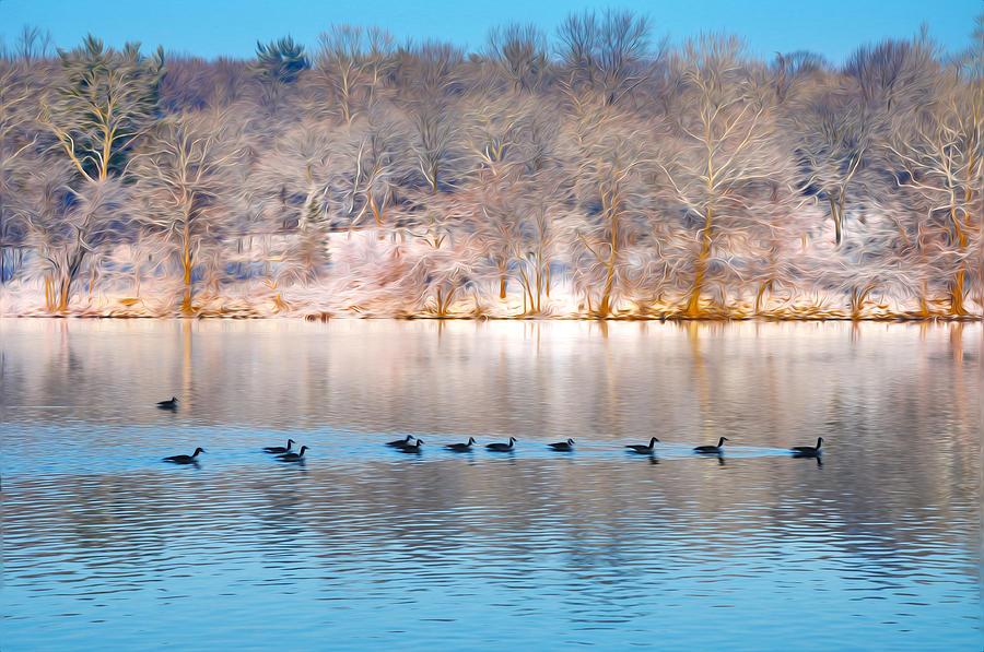 Philadelphia Winter Scene Photograph