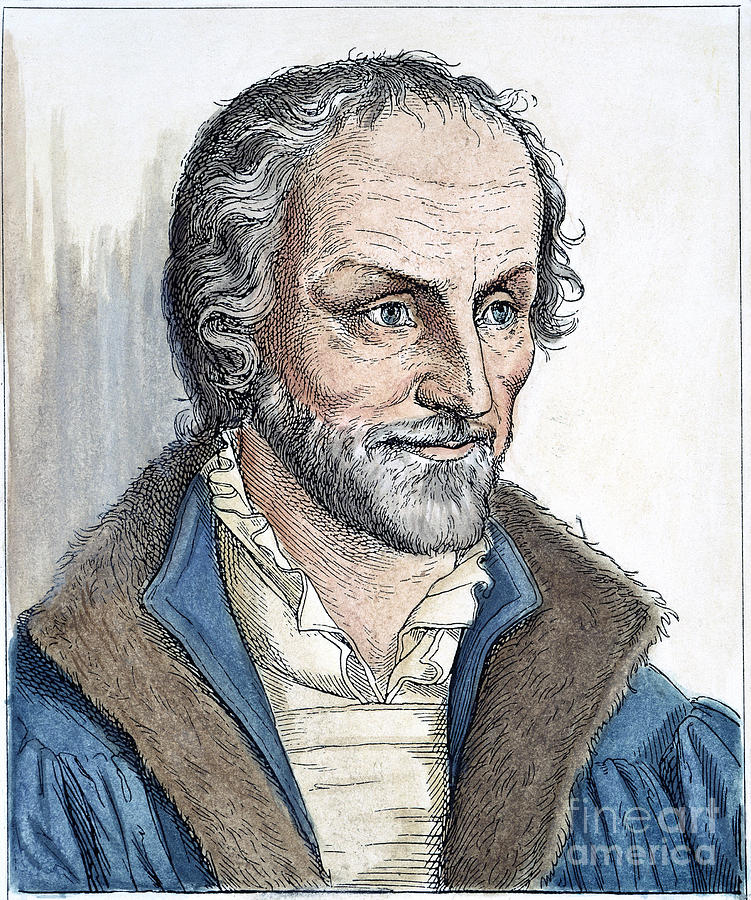 Philipp Melanchthon (1497-1560). German Scholar And Religious Reformer: Line Engraving, German, 19th Century Photograph  - Philipp Melanchthon (1497-1560). German Scholar And Religious Reformer: Line Engraving, German, 19th Century Fine Art Print