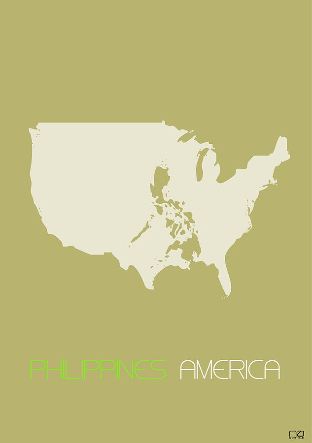 Philippines America Poster Digital Art