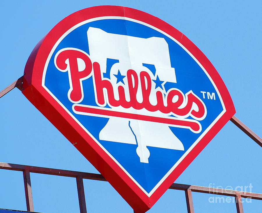 Philadelphia Phillies Photograph - Phillies Logo by Carol Christopher