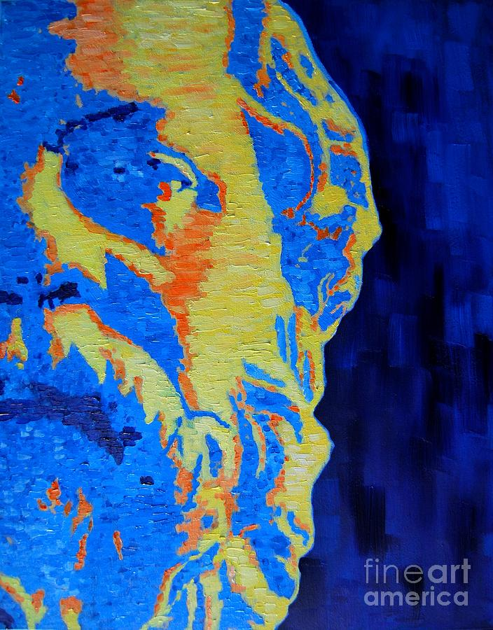 Philosopher - Socrates 3 Painting  - Philosopher - Socrates 3 Fine Art Print