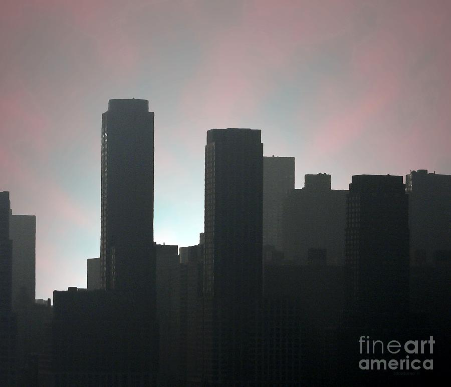 Photograph Of Manhattan In The Morning  Photograph  - Photograph Of Manhattan In The Morning  Fine Art Print