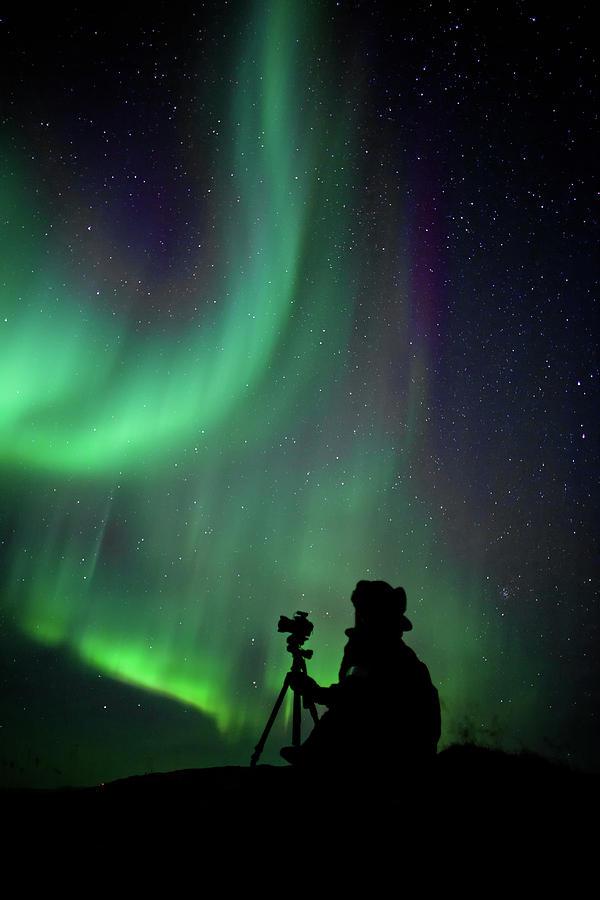 Photographer Catching Beautiful Light Photograph
