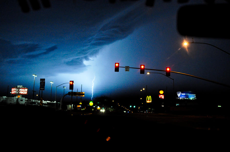 Phx Night Lightning 3 Photograph