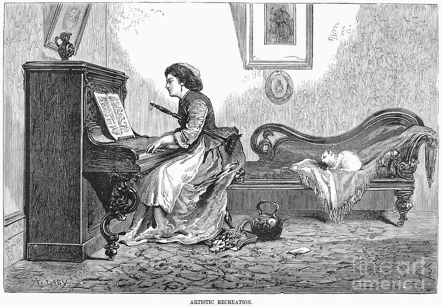 Pianist, 1876 Photograph