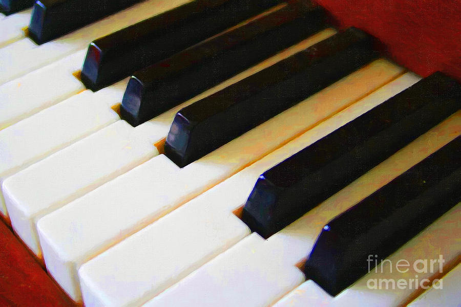 Piano Keys . V2 Photograph  - Piano Keys . V2 Fine Art Print