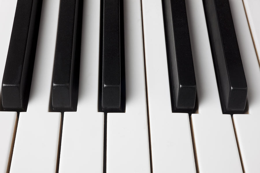 Piano Keys Close Up Photograph
