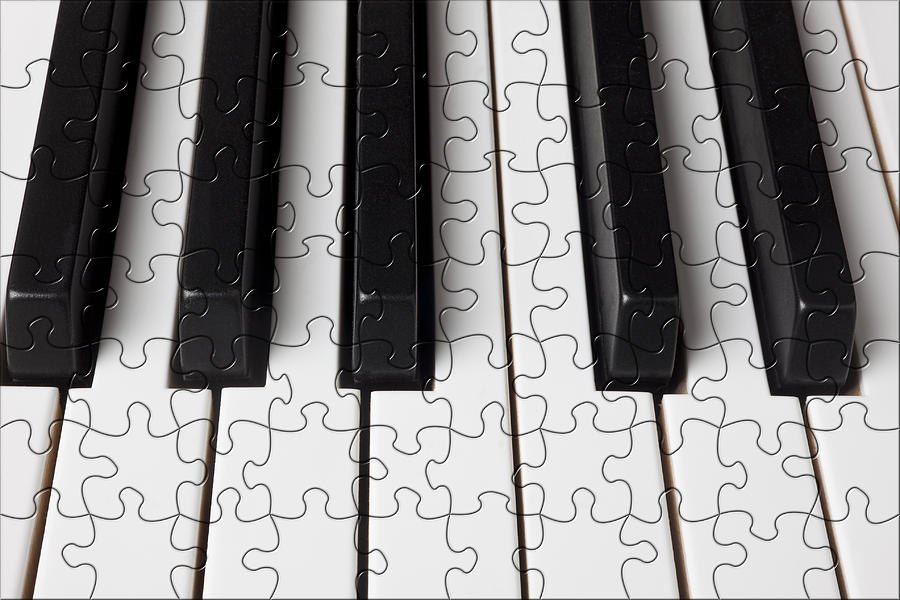 Piano Keys Jigsaw Photograph