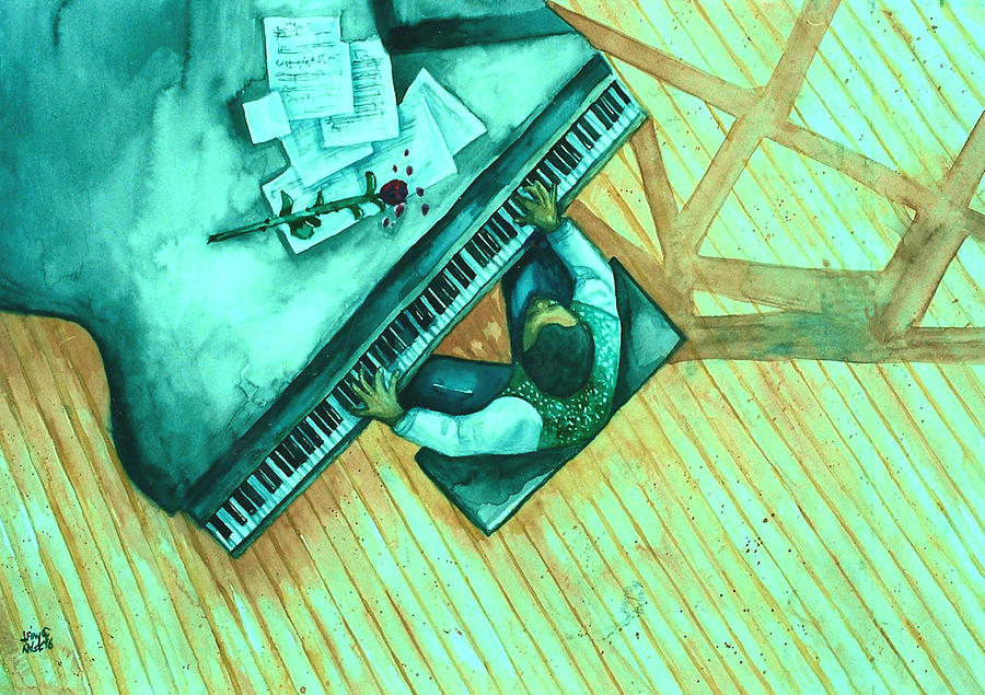 Piano Peace Mixed Media  - Piano Peace Fine Art Print