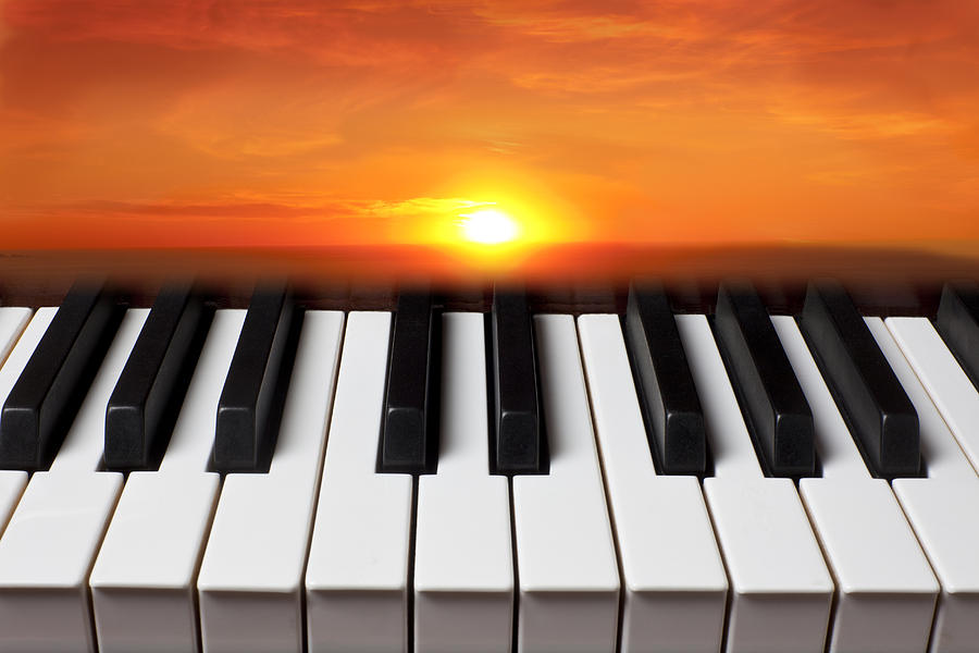 Piano Sunset Photograph  - Piano Sunset Fine Art Print