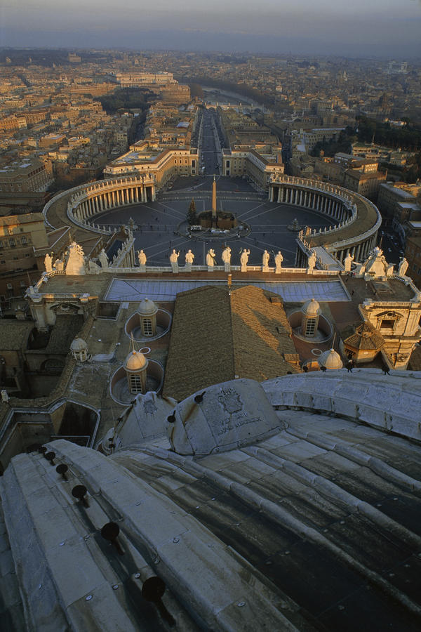Piazza San Pietro As Seen From The Dome Photograph  - Piazza San Pietro As Seen From The Dome Fine Art Print