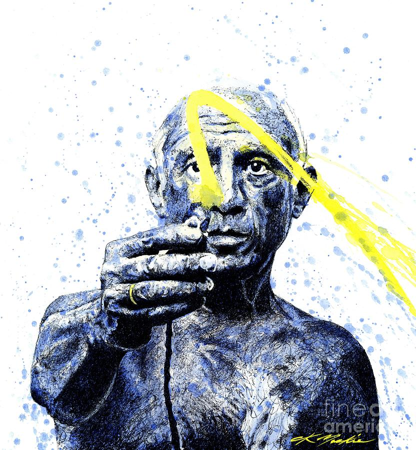 Pablo Picasso Painting - Picasso by Chris Mackie