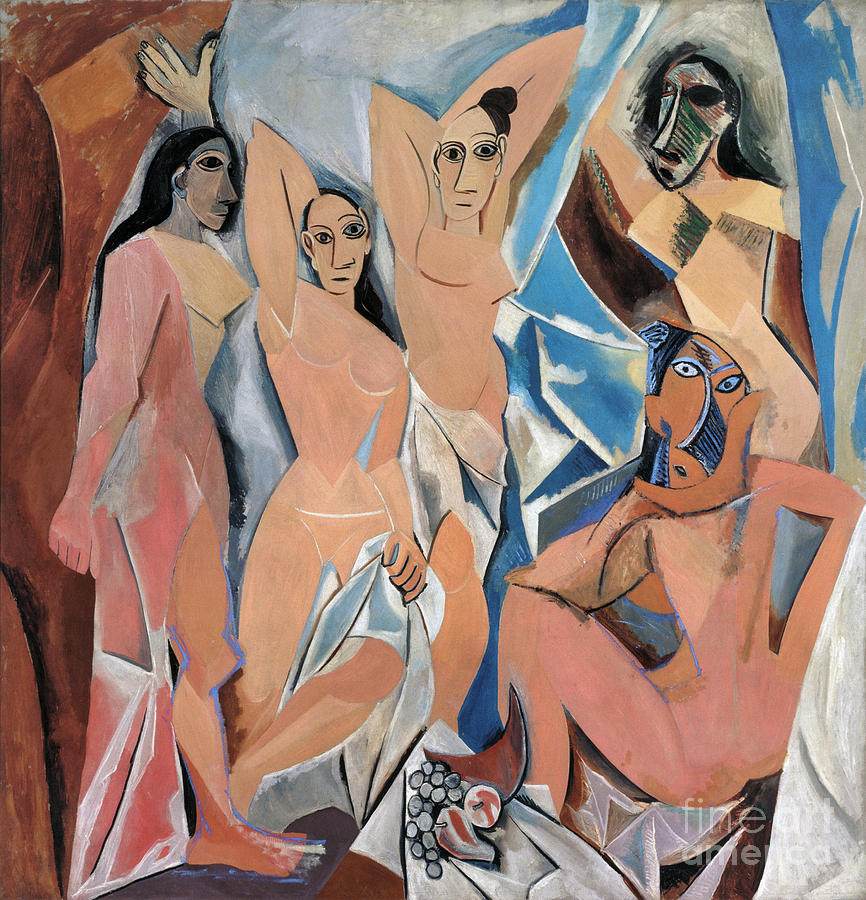 Picasso Demoiselles 1907 Painting