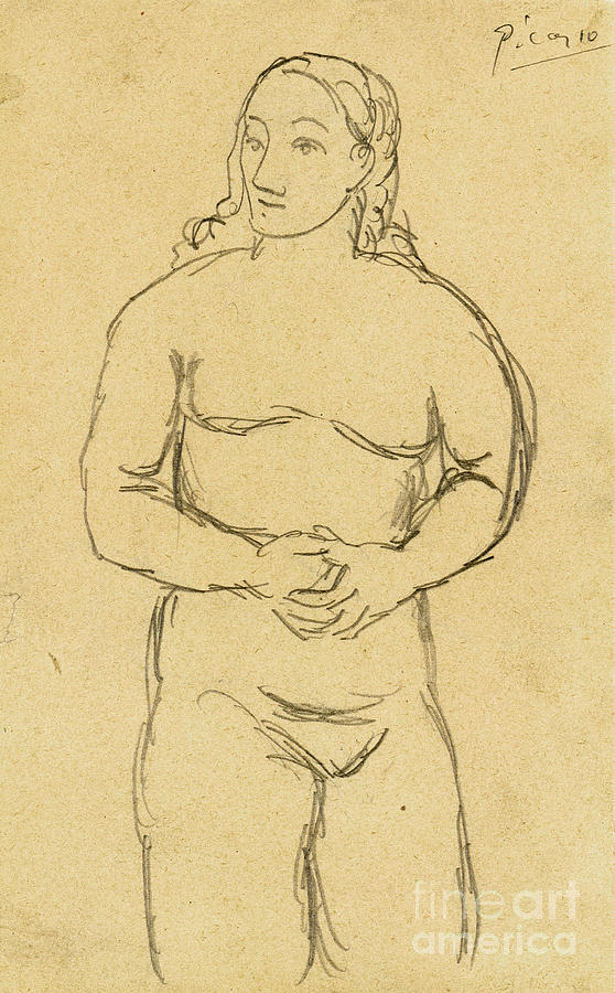Picasso: Female Nude, C1906 Photograph