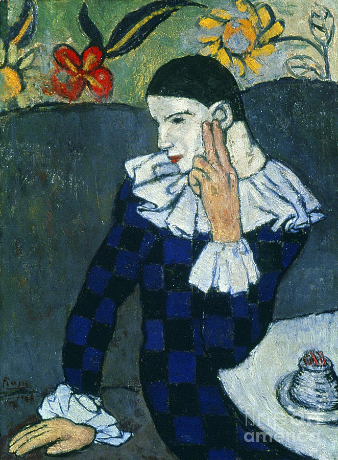 Picasso Harlequin 1901 Painting