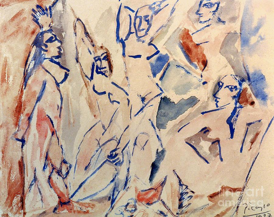 Picasso: Les Desmoiselles Photograph
