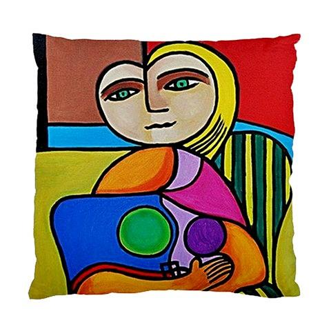 Picasso Style Tapestry - Textile - Picasso Style Double Sided Art Pillow Cover No 1  by Janine Antulov