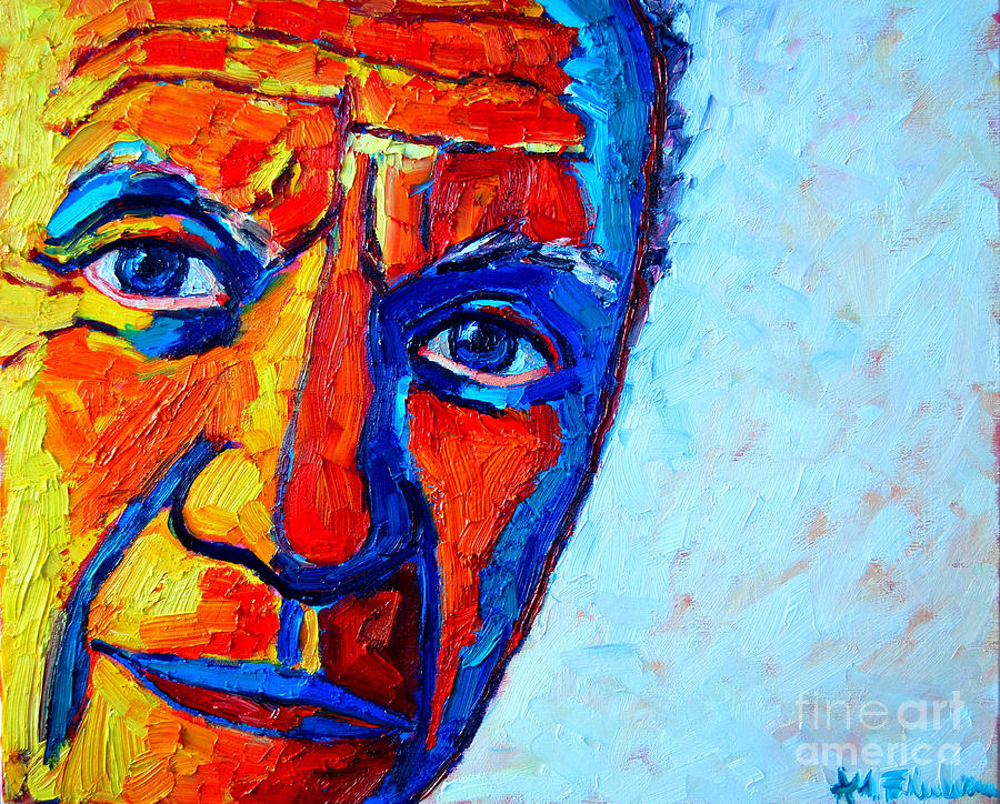 Picasso S Look Painting By Ana Maria Edulescu