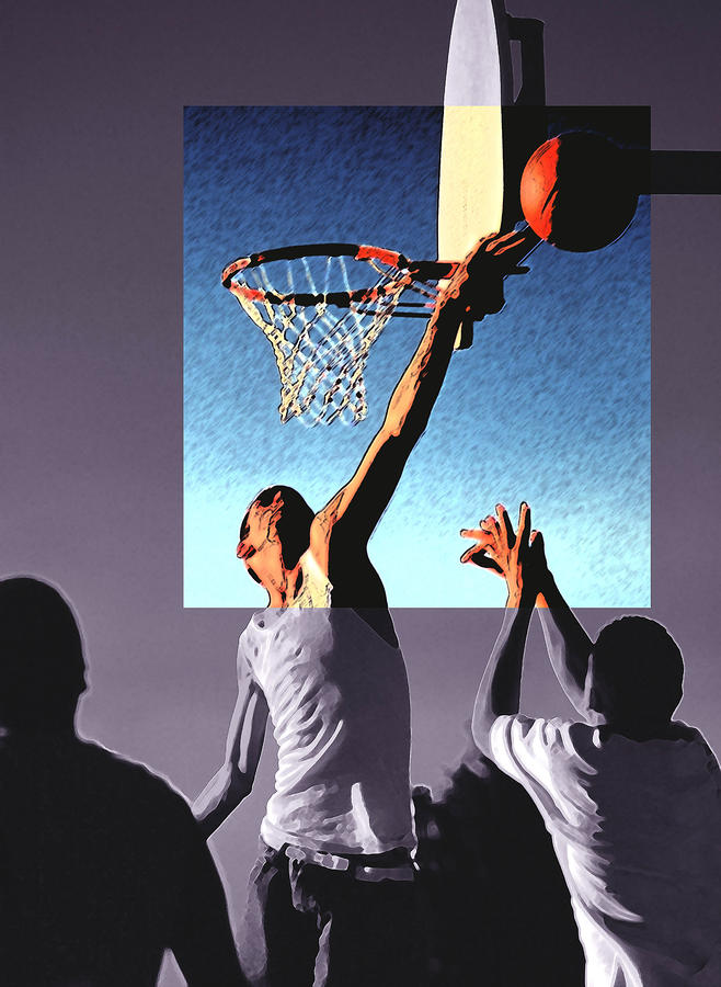 Pick Up Game Drawing  - Pick Up Game Fine Art Print