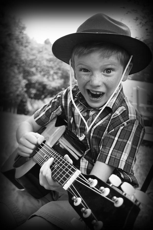 Guitar Photograph - Pickin by Kelly Hazel