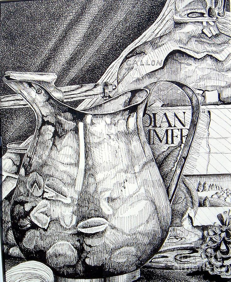Picture Of Pitcher Drawing
