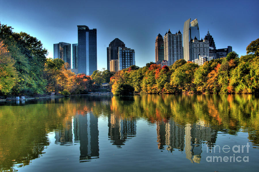 Piedmont Park Atlanta City View Photograph