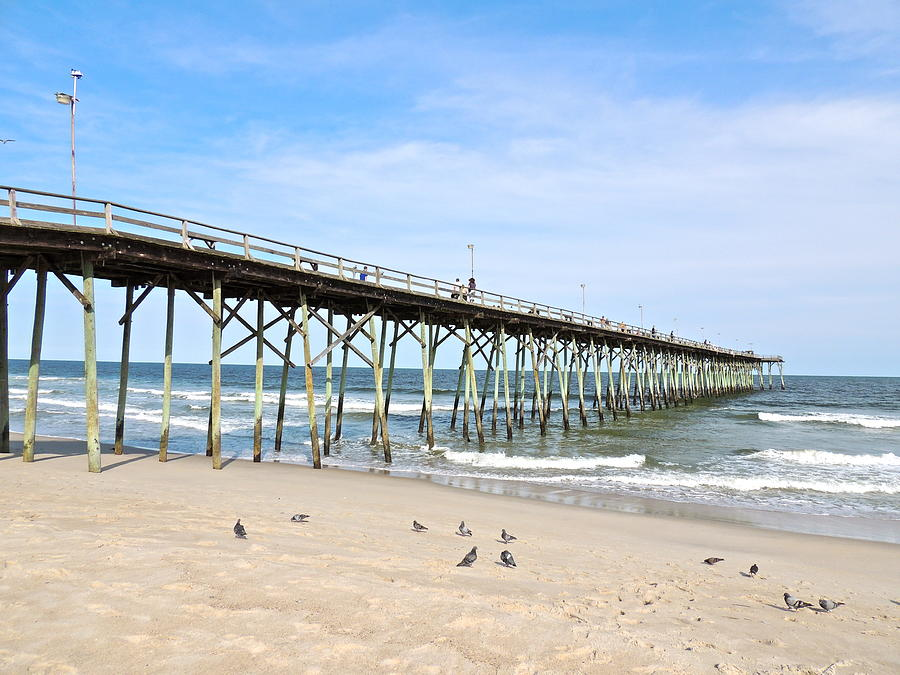 Pier At Kure Beach Photograph  - Pier At Kure Beach Fine Art Print