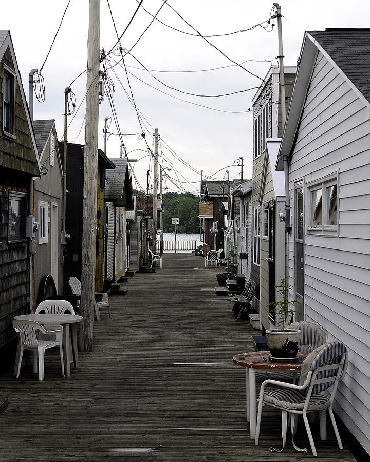 Pier Houses At Canandaigua Lake June 2011 Photograph