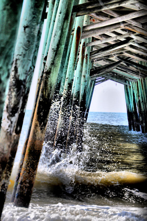 Pier Splash Photograph  - Pier Splash Fine Art Print