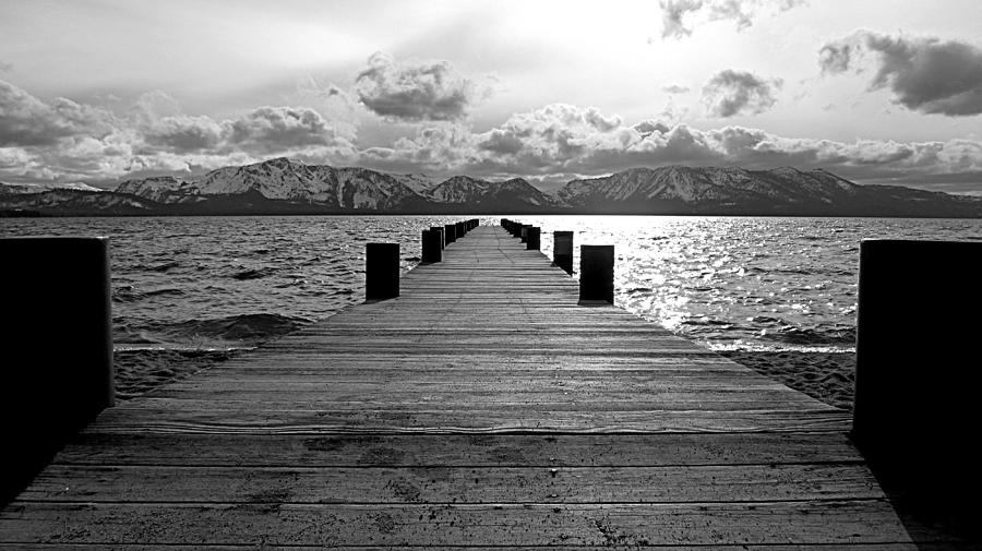 Pier To Mount Tallac Lake Tahoe Photograph