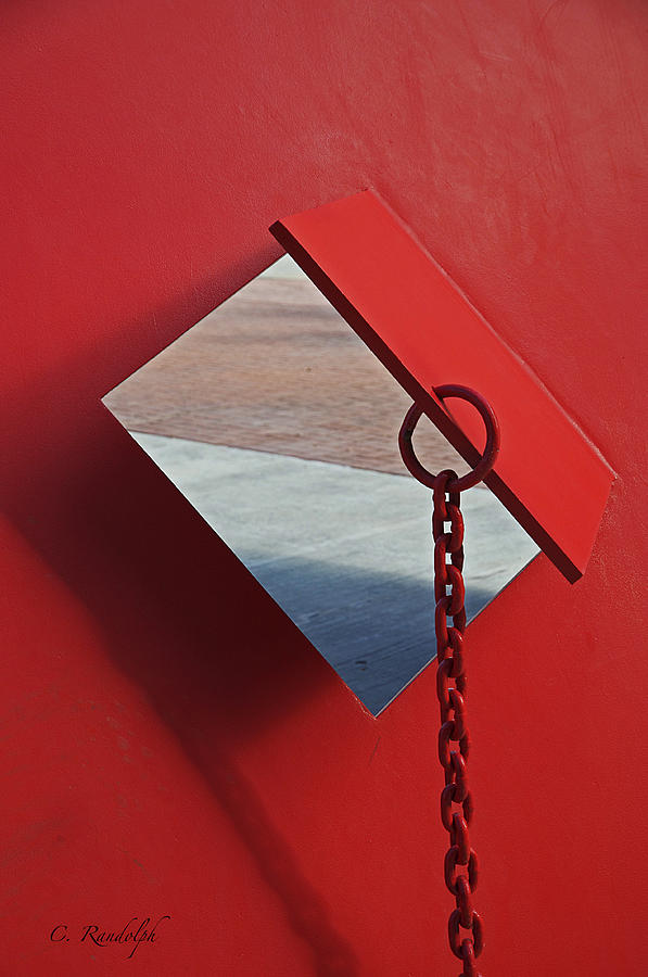 Red Metal Photograph - Pierced by Cheri Randolph