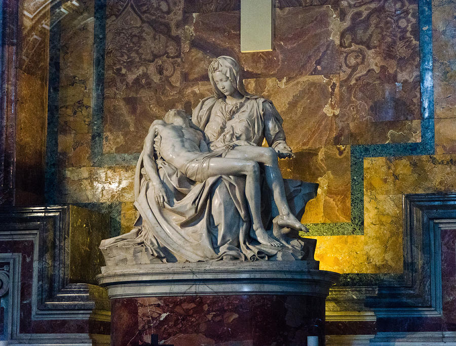 Pieta Photograph - Pieta By Michelangelo Circa 1499 Ad by Jon Berghoff