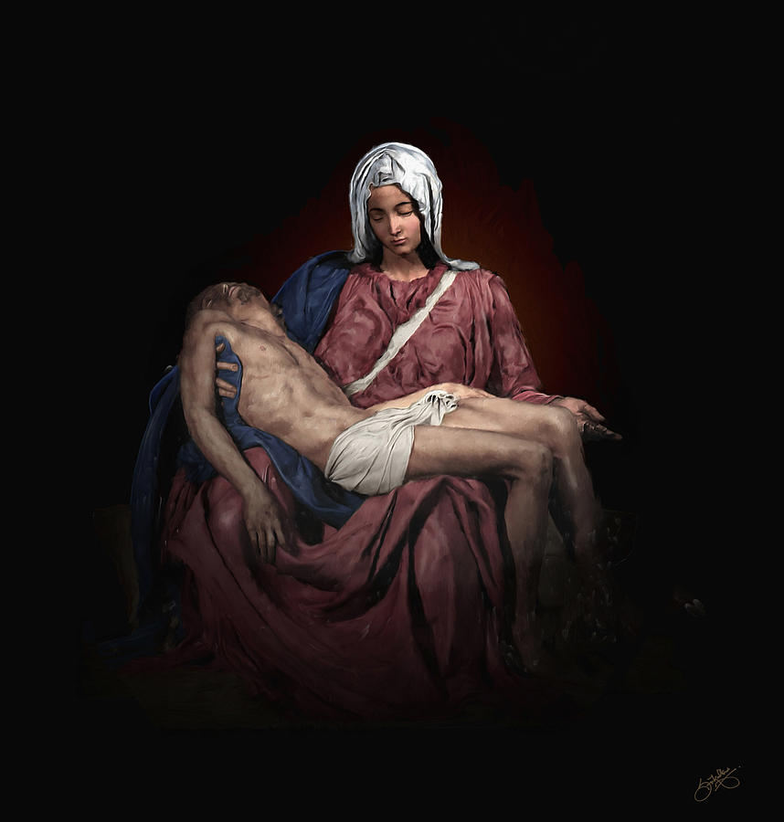 Pieta Digital Art